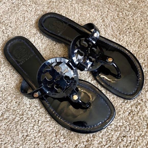 4ee02a508e491 Tory Burch Miller Sandals Patent Leather Black 8.5.  M 5b75e5c3f303699ef1ce0faa